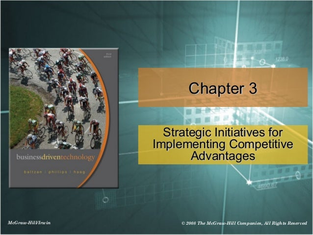 Chapter 3                      Strategic Initiatives for                    Implementing Competitive                      ...