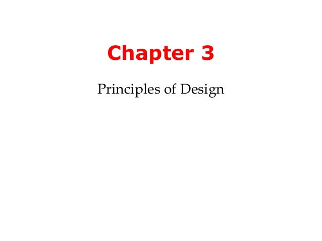 Chapter 3Principles of Design