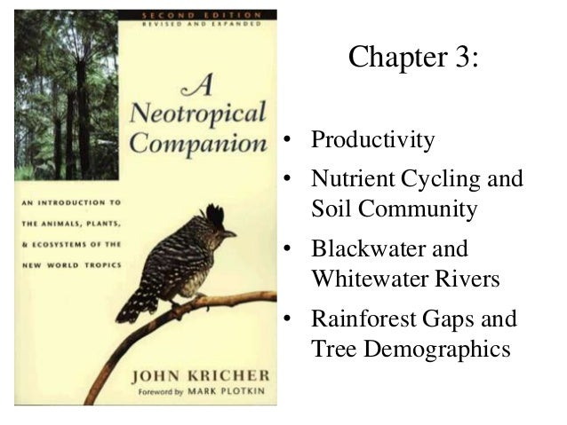Chapter 3: • Productivity • Nutrient Cycling and Soil Community  • Blackwater and Whitewater Rivers • Rainforest Gaps and ...