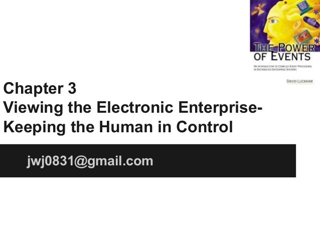 Chapter 3 Viewing the Electronic EnterpriseKeeping the Human in Control jwj0831@gmail.com