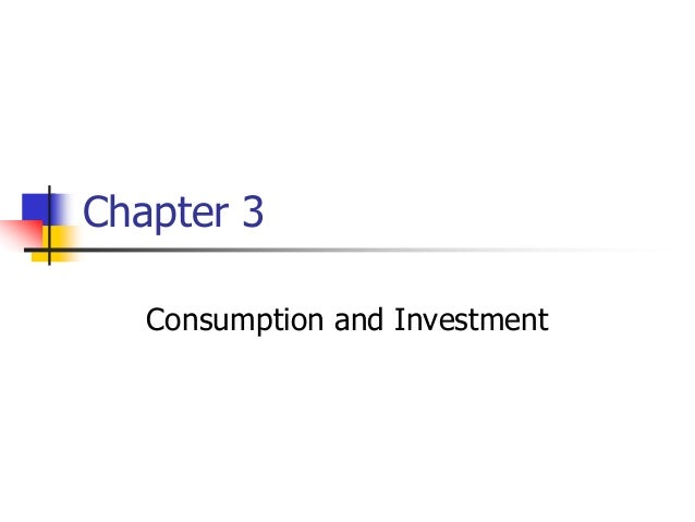 Chapter 3 Consumption and Investment