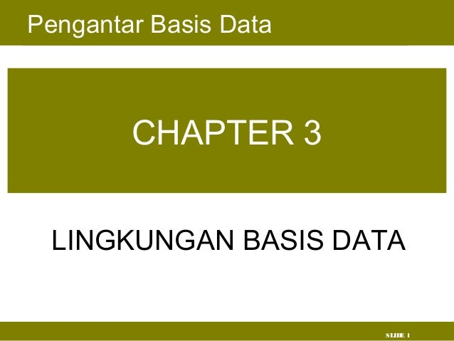 Chapter 3 arsitektur basis data