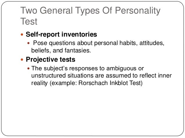 Business Personality Types Types of Personality Test
