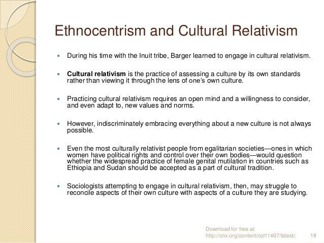 cultural relativism vs ethnocentrism essay