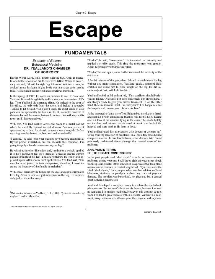 Chapter 3: Escape