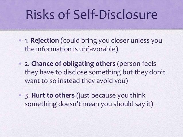 what is self disclosure pdf