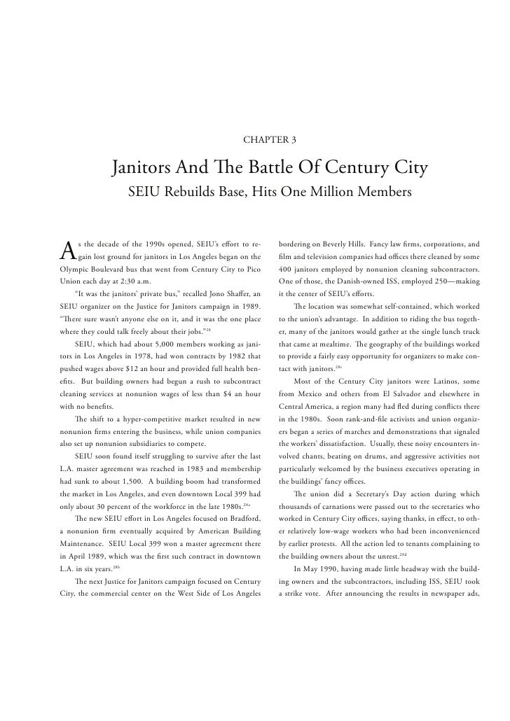 CHAPTER 3                Janitors And                           e Battle Of Century City                     SEIU Rebuilds...