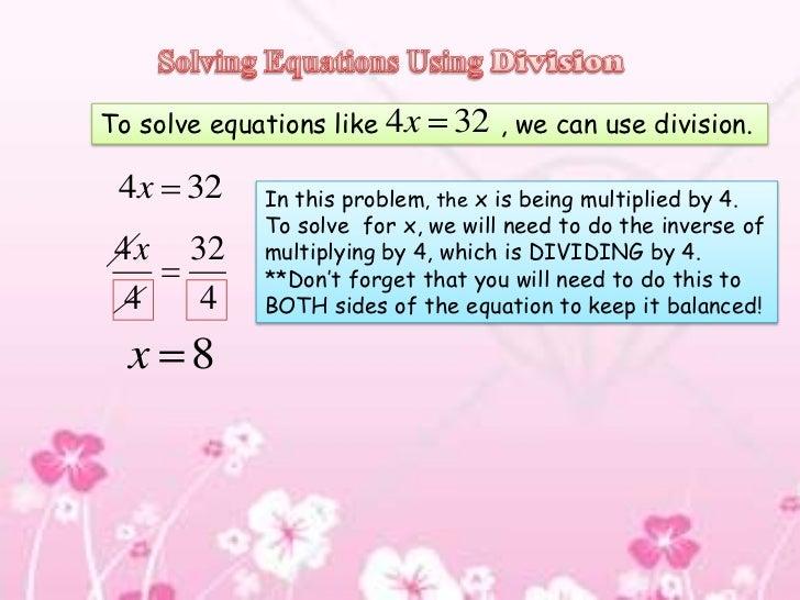 Linear problem solving