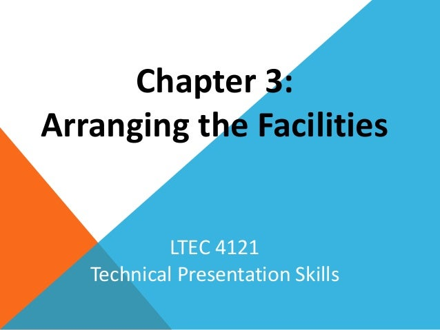 Chapter 3 - Arranging the Facilities