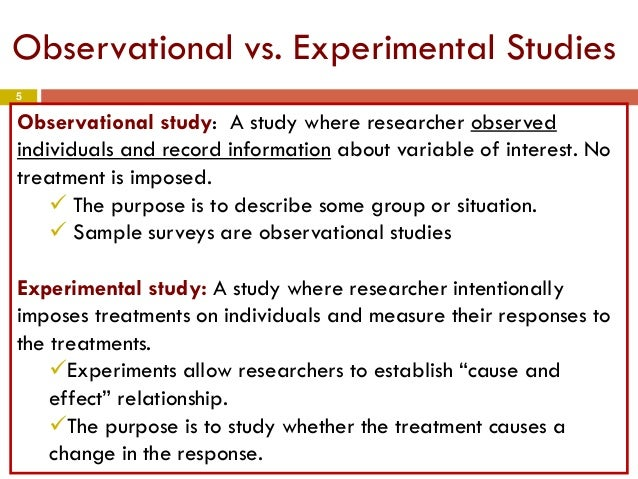 Sample Surveys Are Observational Studies And Experiments