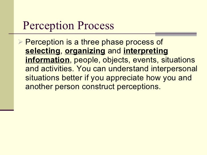 The Impact of Perception on Interpersonal Communication