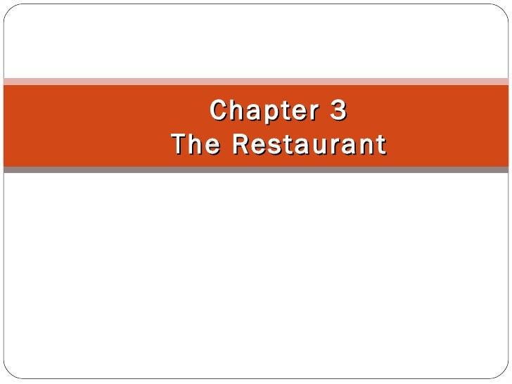 Chapter 3The Restaurant