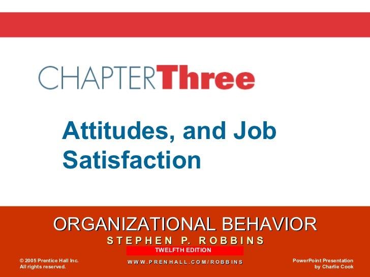 attitudes and job satisfaction slideshare