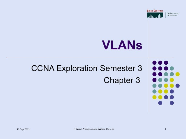 Chapter 3   vlans