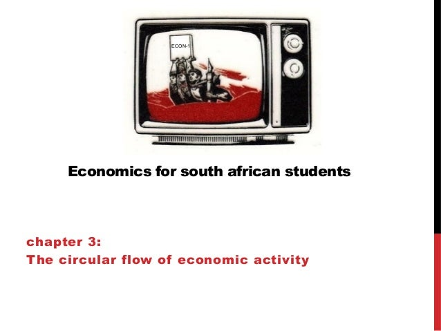 Economics for south african students chapter 3: The circular flow of economic activity ECON-1
