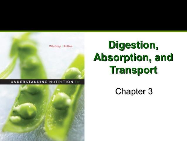Digestion,Digestion, Absorption, andAbsorption, and TransportTransport Chapter 3Chapter 3