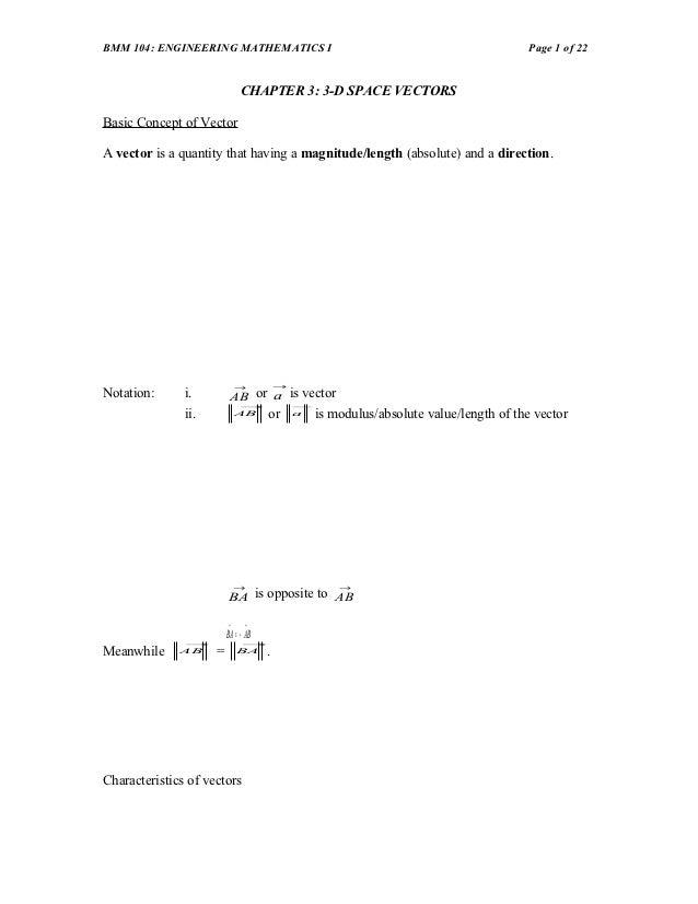 BMM 104: ENGINEERING MATHEMATICS I                                                     Page 1 of 22                       ...