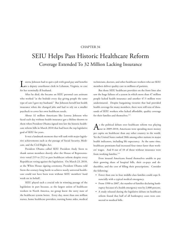 Chapter 34   seiu helps pass historic healthcare reform - SEIU contribue au vote d'une réforme historique pour la sécurité sociale