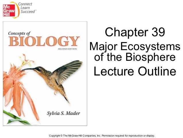 Chapter 39                                  Major Ecosystems                                   of the Biosphere           ...