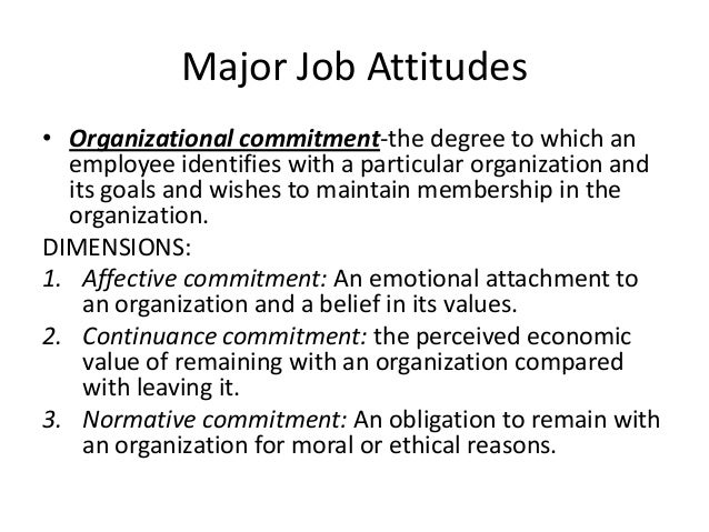 employee attitudes and job satisfaction Job satisfaction or employee satisfaction has been defined in many which can be used as an index of how likely a job is to affect an employee's attitudes and.