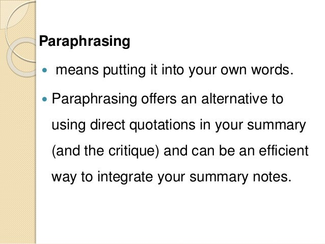 Oxford dictionary definition of paraphrasing