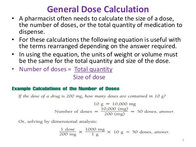 Calculation Of Doses