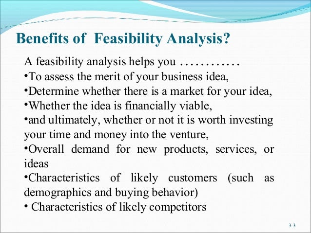 Assessing the Feasibility of a New Product