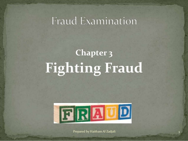 Chapter 3: Fighting Fraud