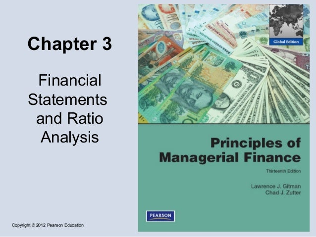 Chapter 3 financial statements and ratio analysis