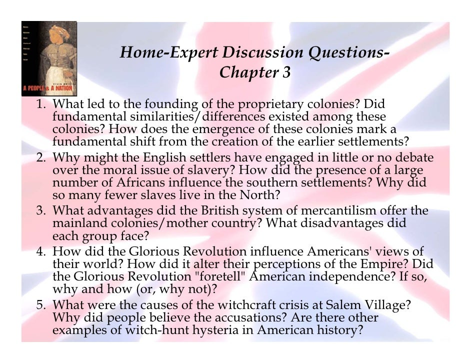 Chapter 3 Home Expert Discussion Questions