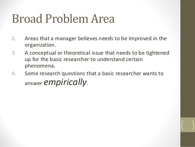 Problem definition phd thesis