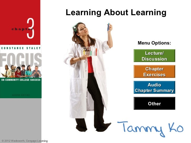Chapter 3 learning styles