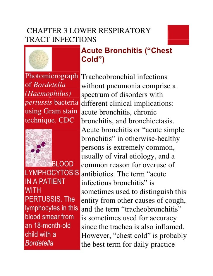 Chapter 3 Lower Respiratory Tract Infections