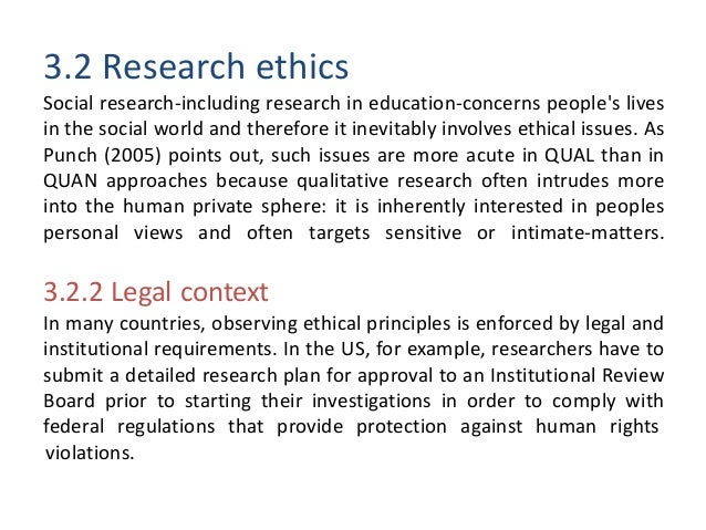 Research, Methodology, and Ethics