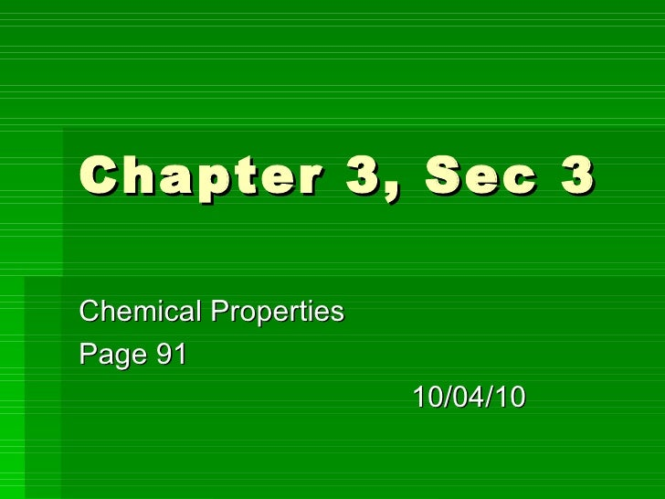 Physical Science: Chapter 3 sec3
