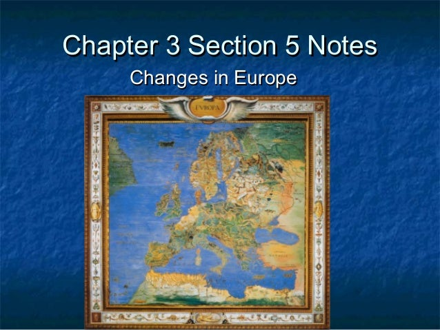 Chapter 3 section 5 notes