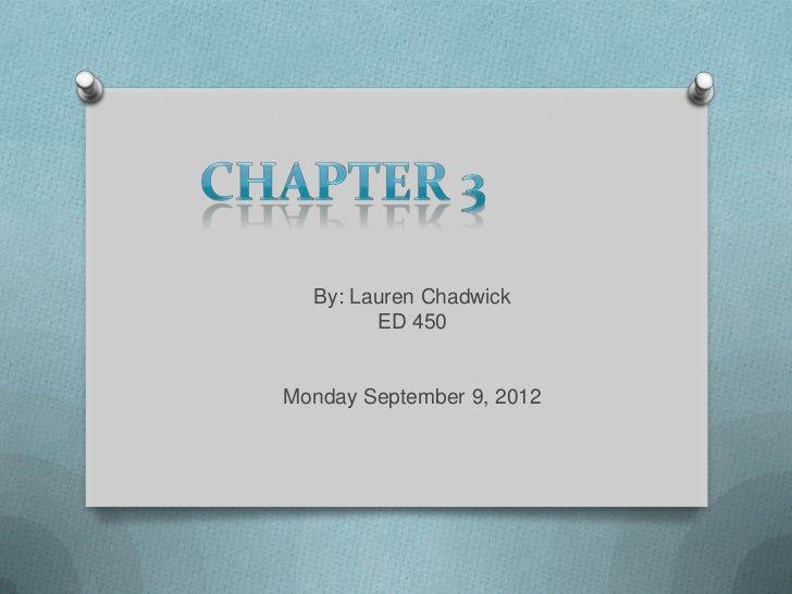 Chapter 3 teachback