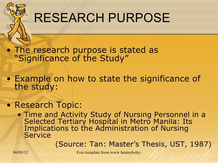 significance of thesis