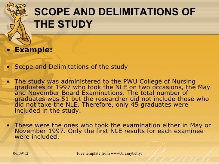 Write an essay scope template