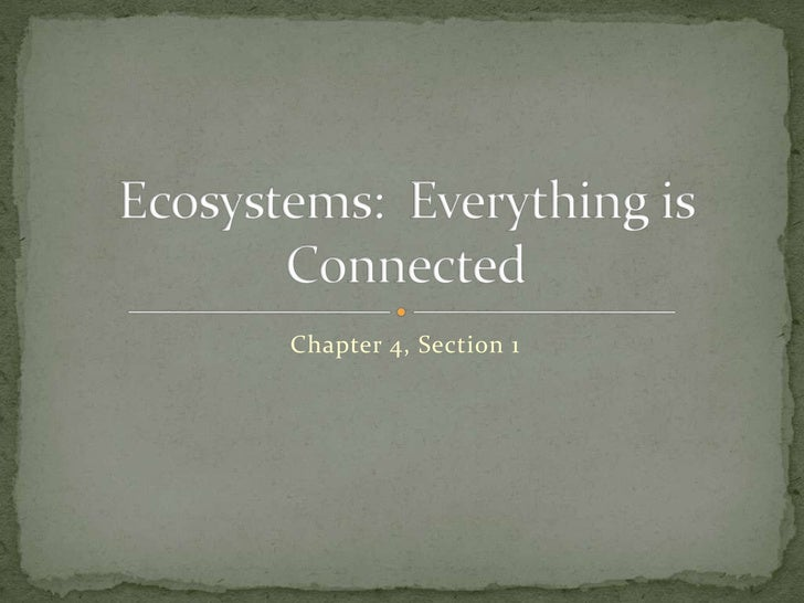 Ecosystems and Evolution