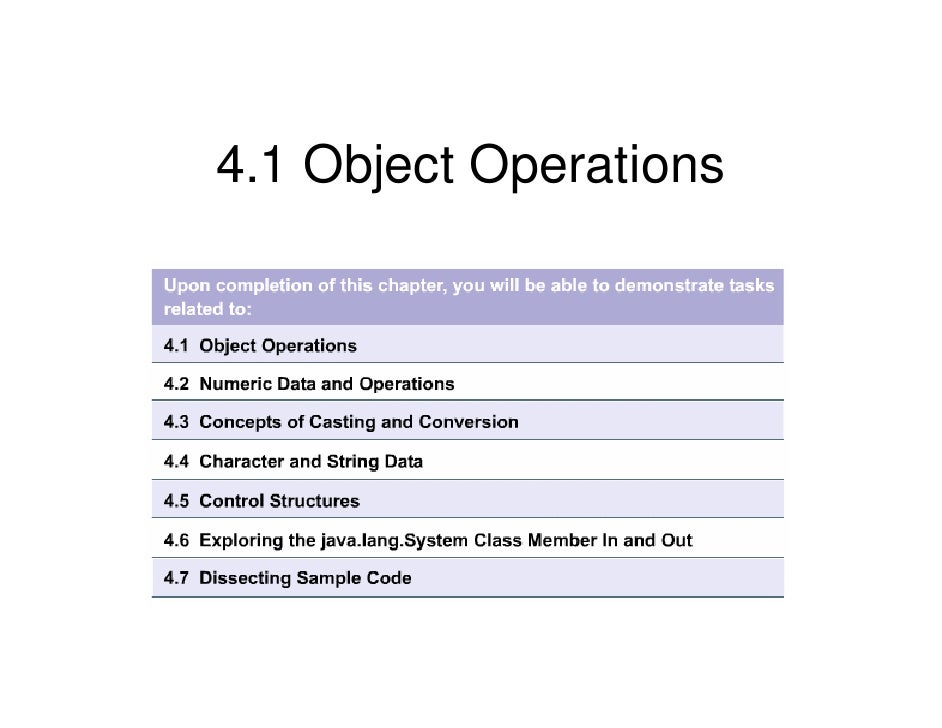 4.1 Object Operations