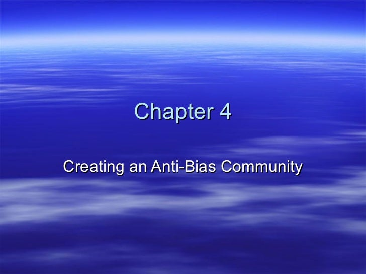 Chapter 4 Creating an Anti-Bias Community