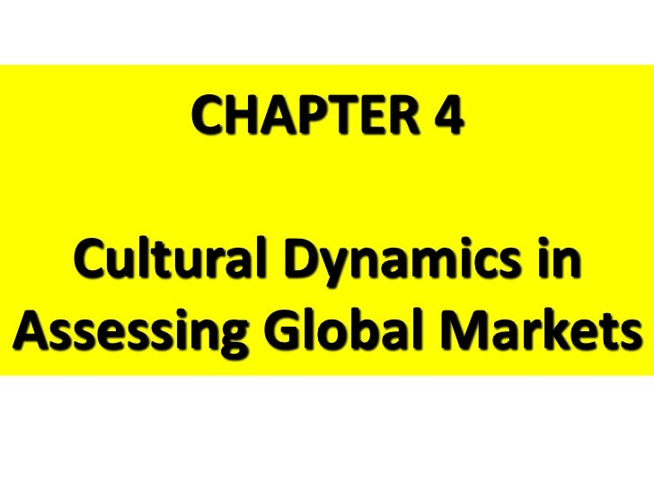 CHAPTER 4  Cultural Dynamics inAssessing Global Markets