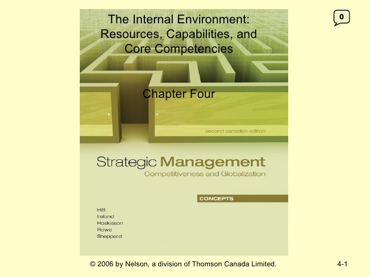 The Internal Environment:                             0   Resources, Capabilities, and      Core Competencies             ...