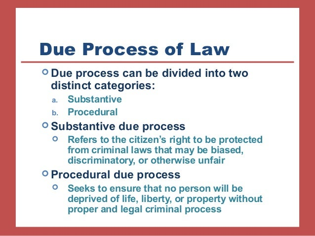 Due Process  Definition of Due Process by MerriamWebster