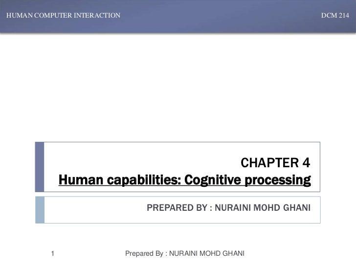Chapter 4 - Human Capabilities : Conceptual Models