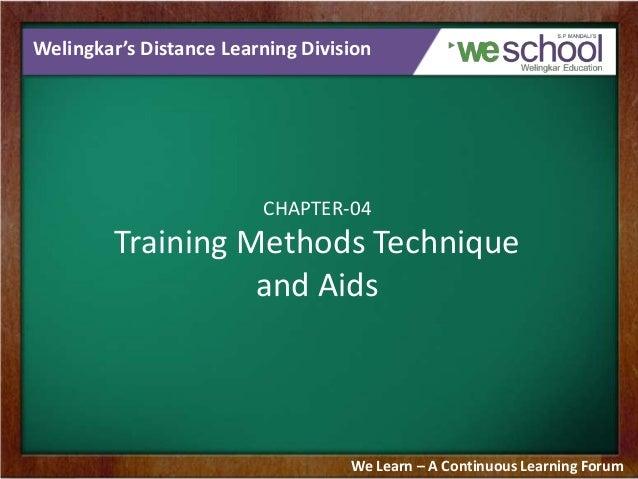 Training Methods Technique and Aids