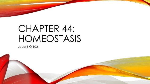 CHAPTER 44: HOMEOSTASIS Jsrcc BIO 102
