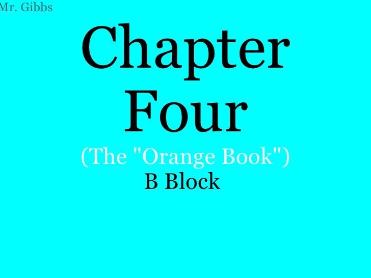 Chapter 4   B Block Ppt