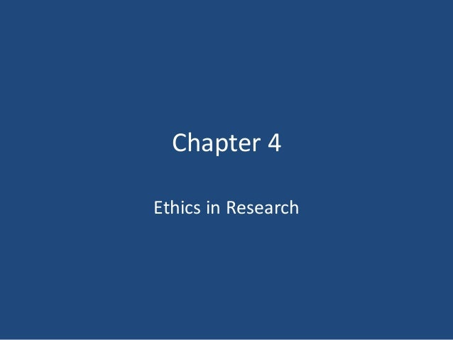 Chapter 4Ethics in Research